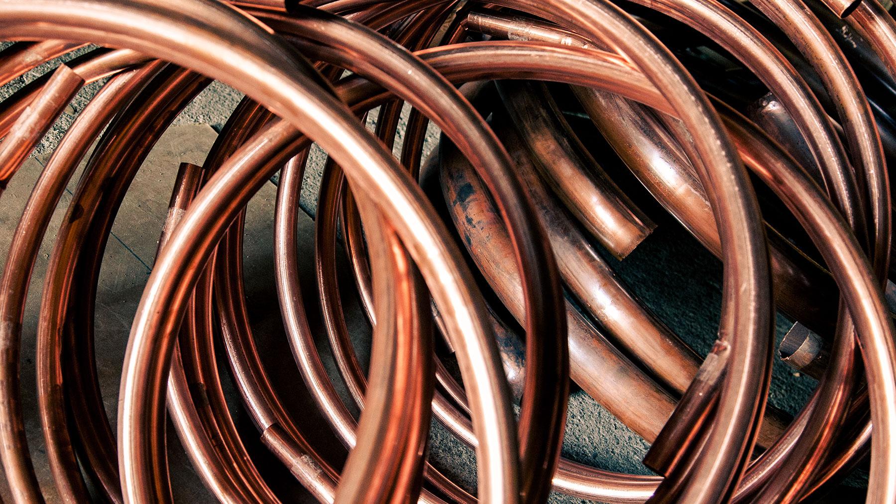matière première, le cuivre
